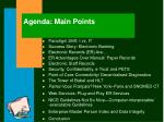 agenda main points