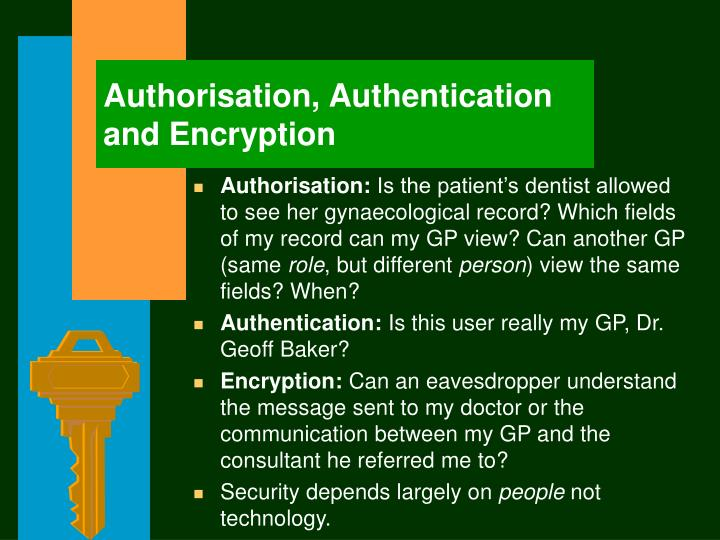 Authorisation,