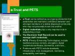 e trust and pets