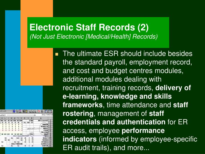 Electronic Staff Records (2)