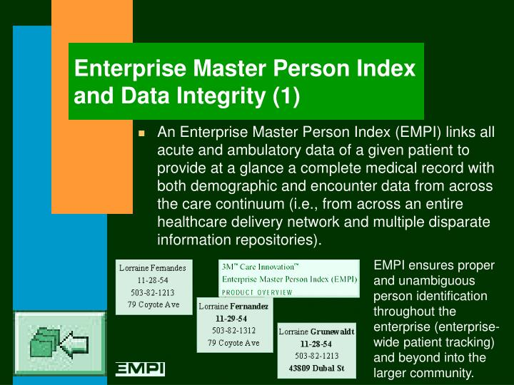 Enterprise Master Person Index and Data Integrity (1)