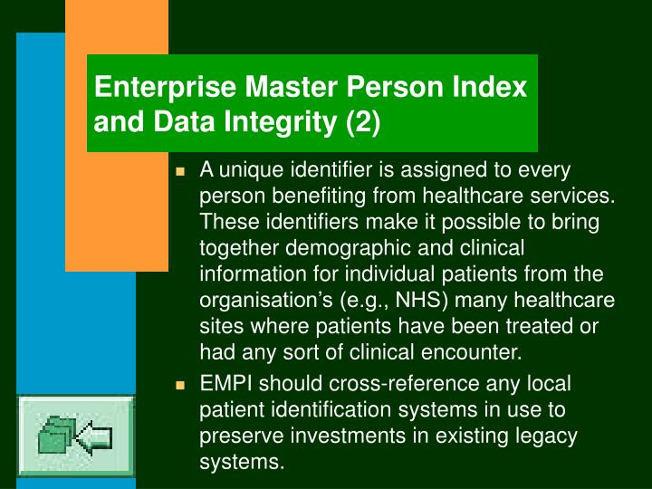 Enterprise Master Person Index and Data Integrity (2)