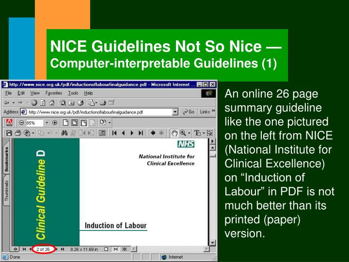 NICE Guidelines Not So Nice —