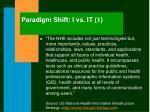 paradigm shift i vs it 1