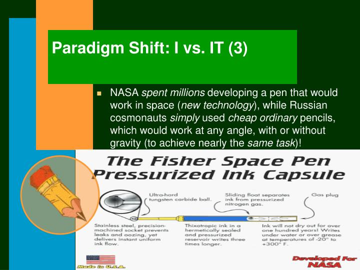 Paradigm Shift: I vs. IT (3)