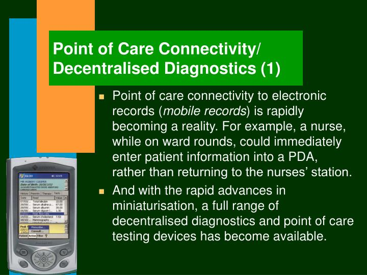 Point of Care Connectivity/ Decentralised Diagnostics (1)