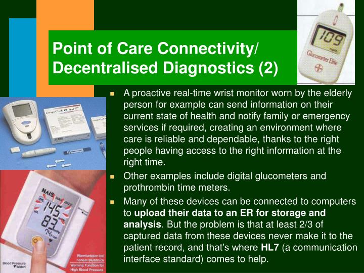 Point of Care Connectivity/ Decentralised Diagnostics (2)