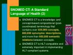 snomed ct a standard language of health 2