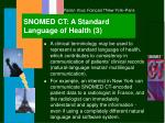 snomed ct a standard language of health 3