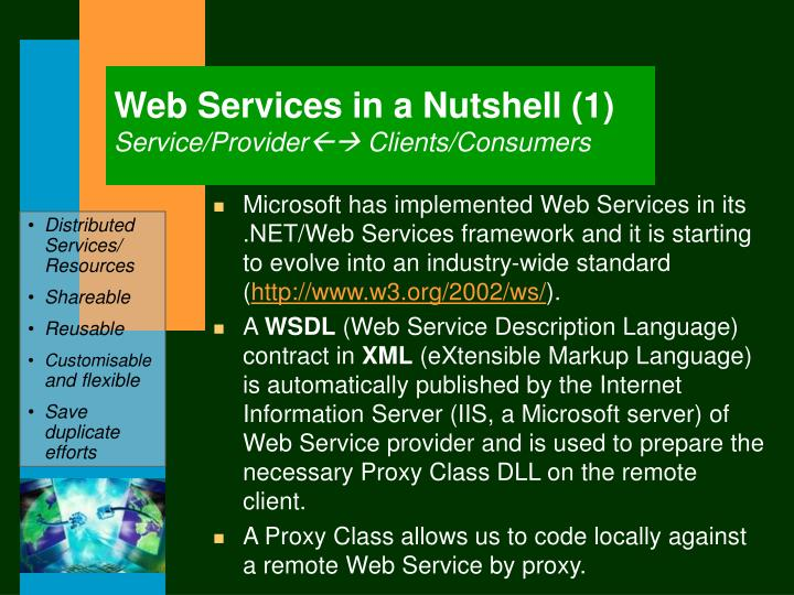 Web Services in a Nutshell (1)