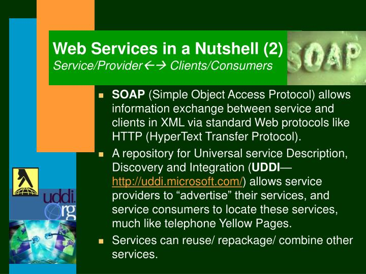 Web Services in a Nutshell (2)