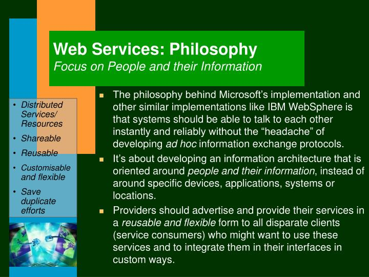 Web Services: Philosophy