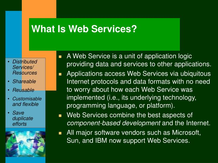 What Is Web Services?