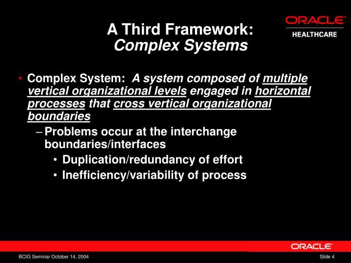 A Third Framework: