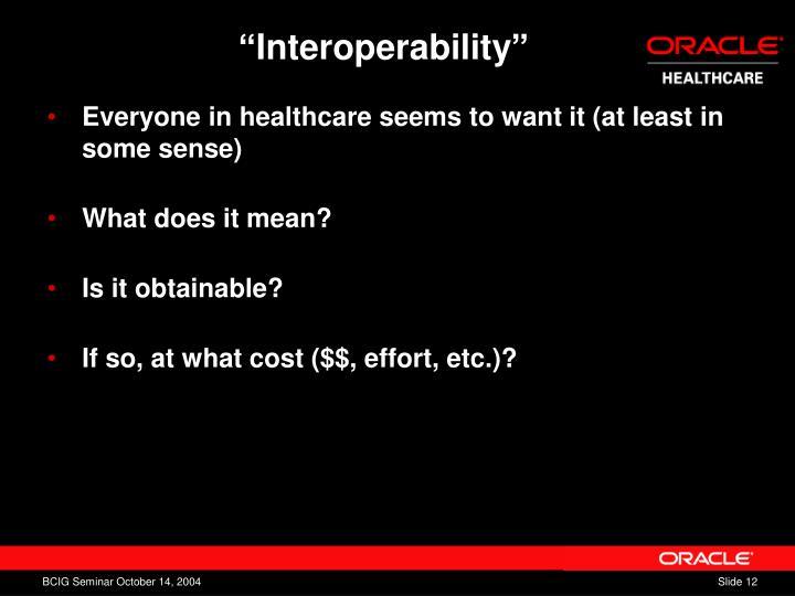 """Interoperability"""