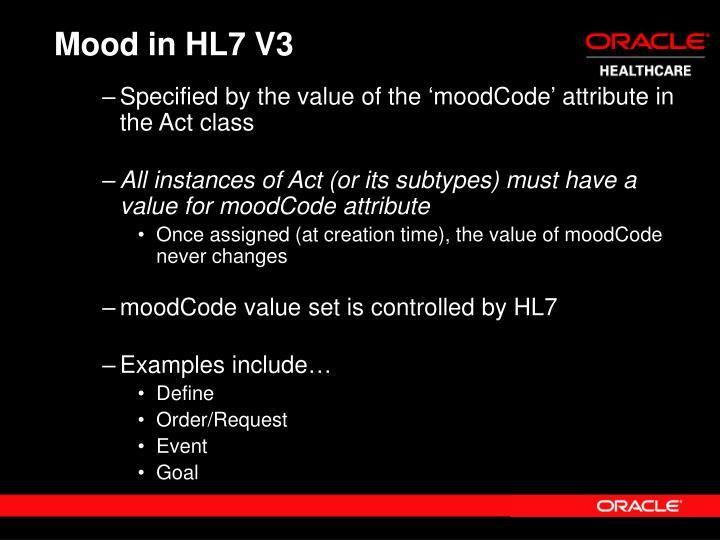 Mood in HL7 V3