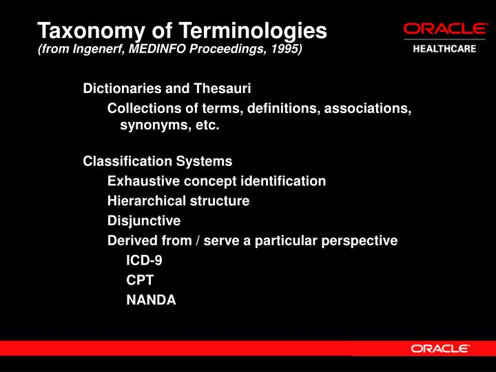 Taxonomy of Terminologies