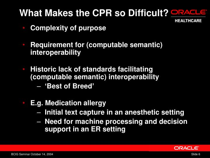 What Makes the CPR so Difficult?