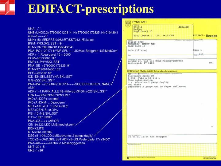 EDIFACT-prescriptions