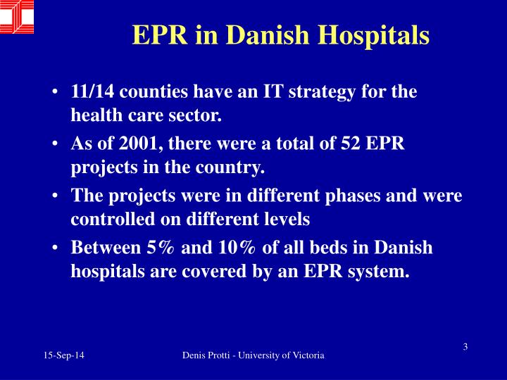 EPR in Danish Hospitals