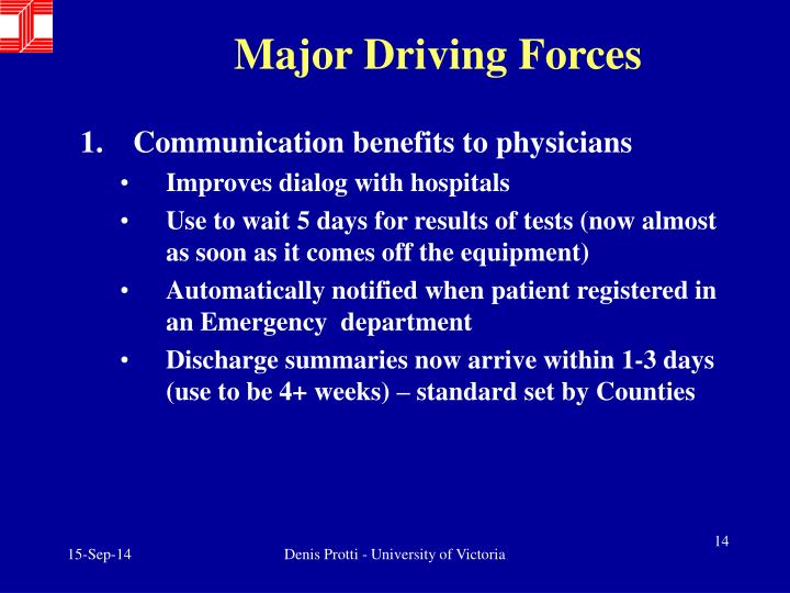 Major Driving Forces