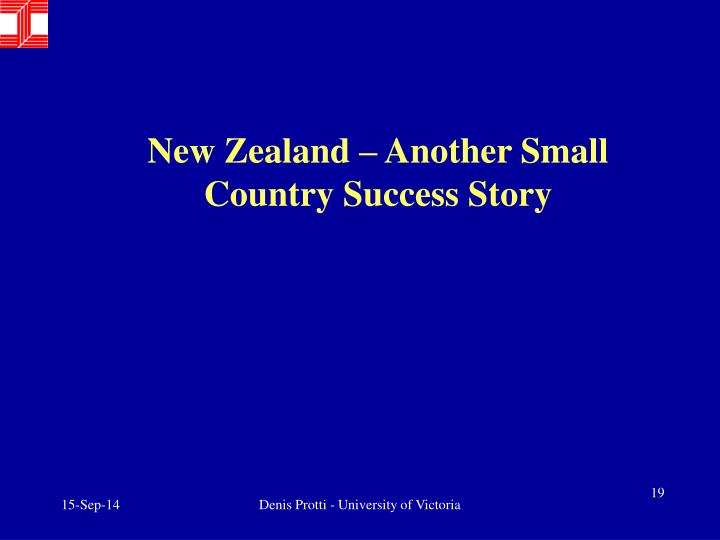 New Zealand – Another Small Country Success Story