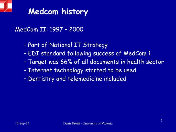 Medcom history