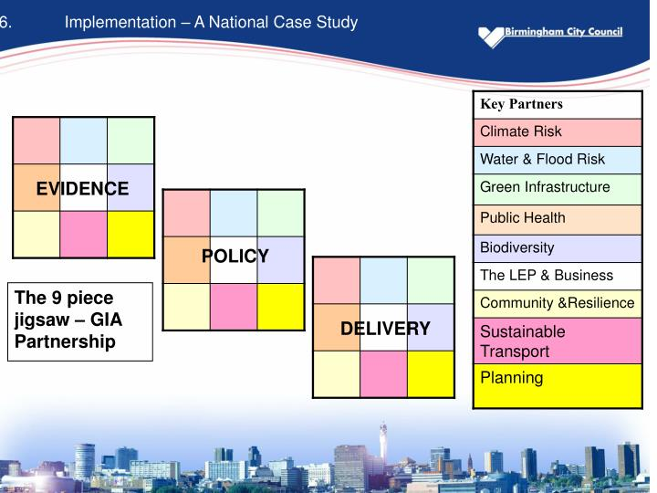 6.	Implementation – A National Case Study