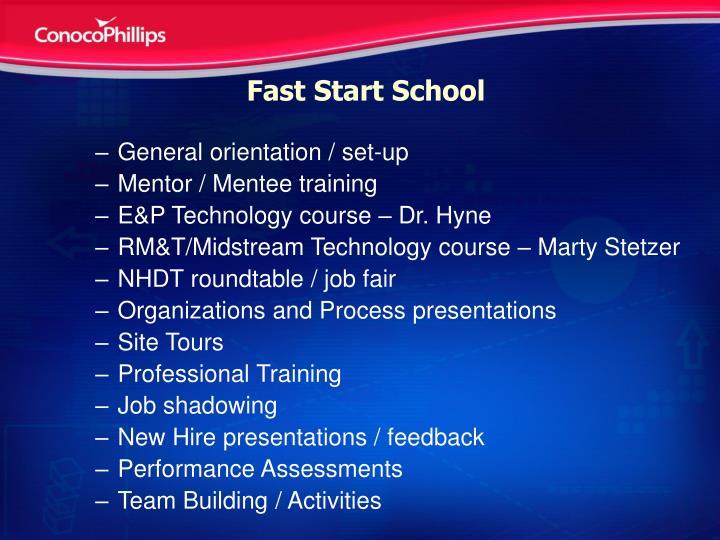 Fast Start School