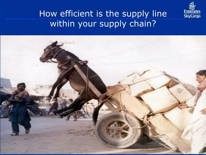 How efficient is the supply line