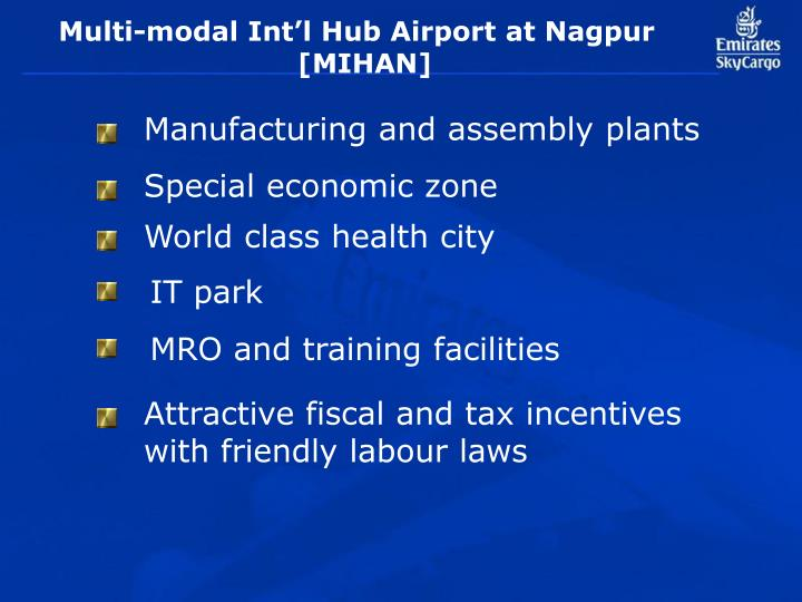 Multi-modal Int'l Hub Airport at Nagpur
