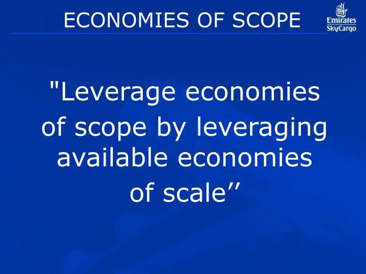 ECONOMIES OF SCOPE