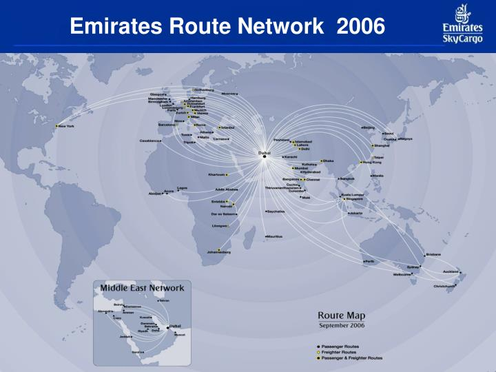 Emirates Route Network  2006