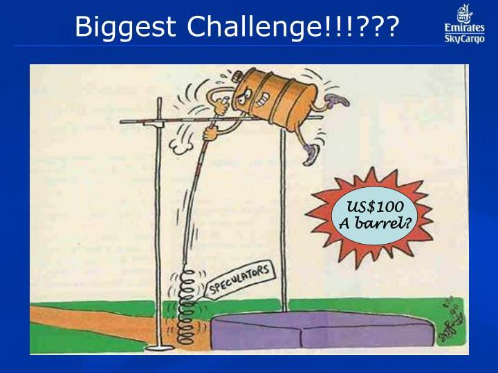 Biggest Challenge!!!???