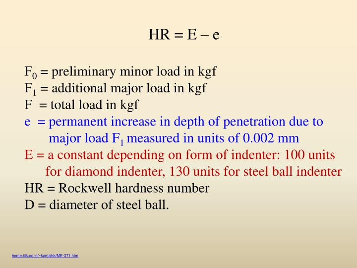 HR = E  e