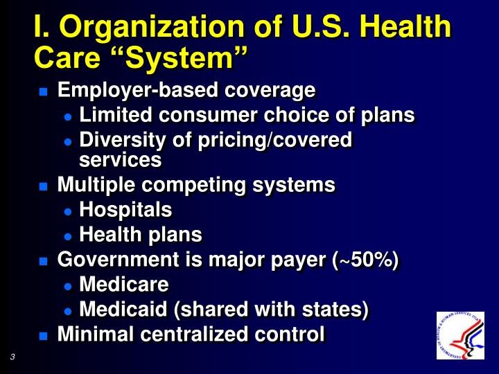 "I. Organization of U.S. Health Care ""System"""