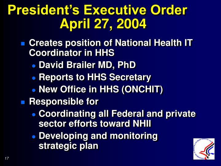 President's Executive Order