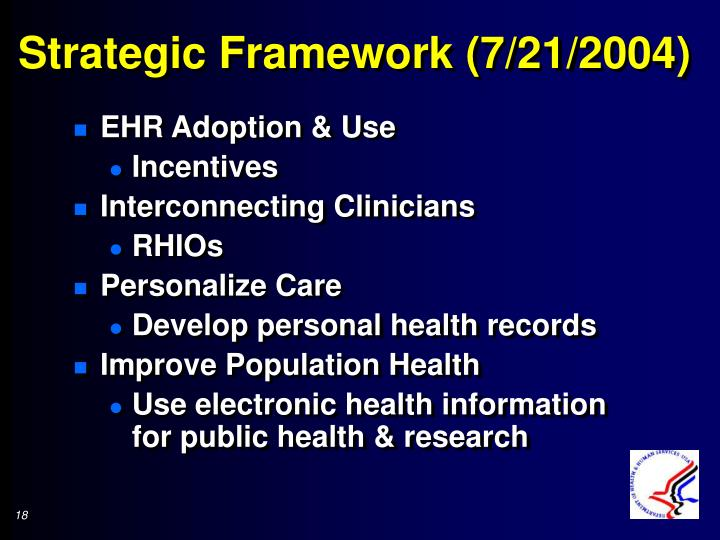 Strategic Framework (7/21/2004)