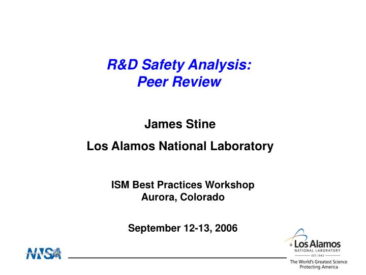 R&D Safety Analysis: