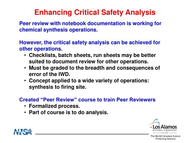 Enhancing Critical Safety Analysis