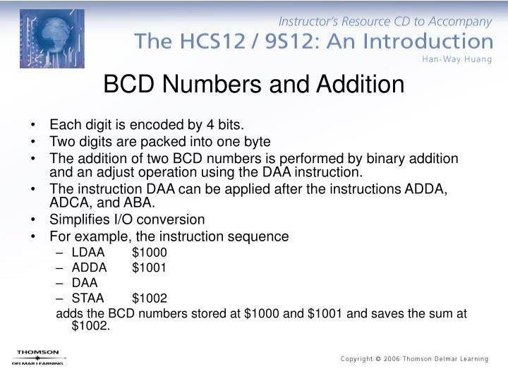 BCD Numbers and Addition