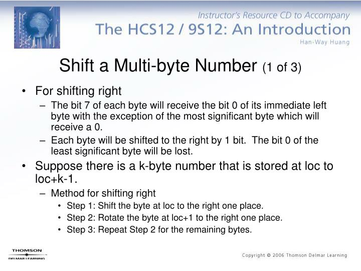 Shift a Multi-byte Number