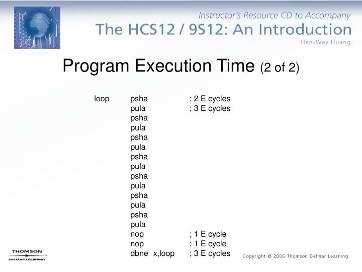 Program Execution Time
