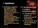 5 synthesis