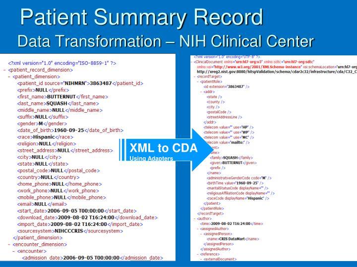 Patient Summary Record
