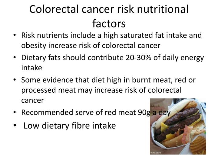 Colorectal cancer risk nutritional factors