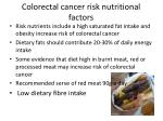 colorectal cancer risk nutritional factors