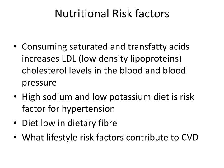 Nutritional Risk factors