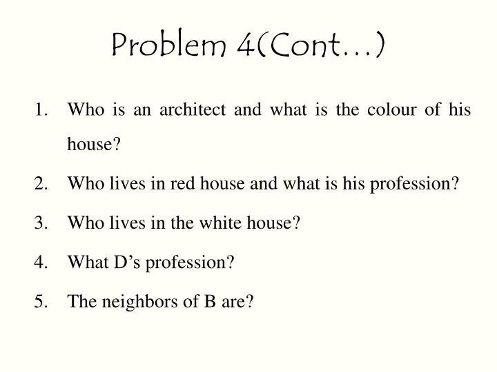 Problem 4(Cont…)