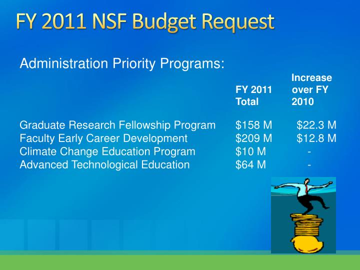 FY 2011 NSF Budget Request